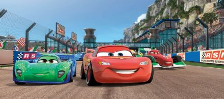 Cars 3 Race mural wallpaper Panoramic  202x90cm Disney